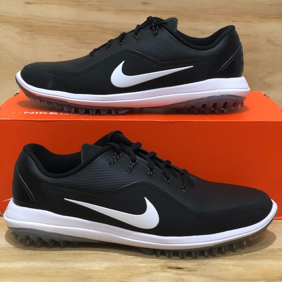 784187676ceb42 Nike Lunar Control Vapor 2 Black White Golf Shoes